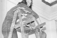 jean on ladder