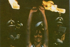 1980 Yearbook pg007 Liz Irons with fire baton