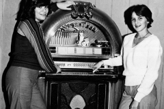 1980 Yearbook pg210 Chrisann Coabuno with jukebox
